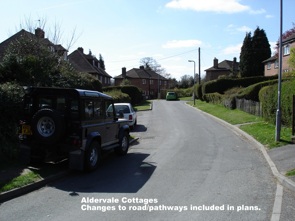 Aldervale Cottahes - changes to road and paths planned.